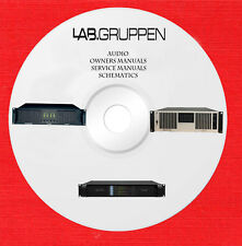Lab Gruppen audio Service owner manuals on 1 dvd in pdf format
