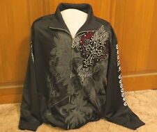 Men's Urban Couture Victorious Jacket Size 3XL Black Embroidered Jeweled