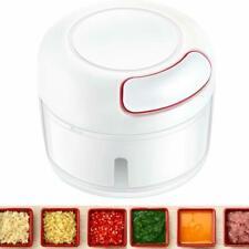 Garlic Press Manual Food Chopper Mini Hand Pull Food Processor Mincer