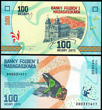 MADAGASCAR Billet 100  ARIARY ZATO  2017 NEW NOUVEAU GRENOUILLE NEUF UNC