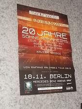 Söhne Mannheims,Musikplakat,Plakat,neu.Berlin,Tourplakat,2015