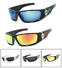 Locs Authentic Sunglasses Smoke or Mirror Lenses Motorcycle OG Style UV400