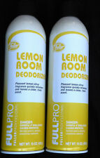 Two New Fuller Brush Lemon Room Deodorizers each 15 oz Leaves clean citrus scent