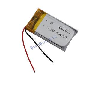 3.7v 400mah rechargeable polymer Li battery 602035 for GPS Bluetooth headset pen