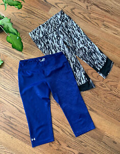 Under Armour Athletic Tennis Running Cropped Pants Women's Size M (Lot of 2)
