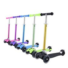 eQuic Luxurious Scooter 4 Flashing Wheels Anodizing Colors Christmas Gifts