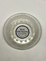 Vintage 60s Glass ashtray KENT INN MOTEL Los Angeles CA HOLLYWOOD  LA hotel