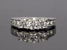 $9,995 14K White Gold Round 1.90ct G SI Diamond Three Stone Engagement Ring Band