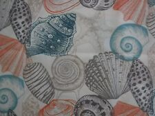 """18"""" x 18"""" Pillow Cover Sea Shells Beach Theme Hand Crafted"""