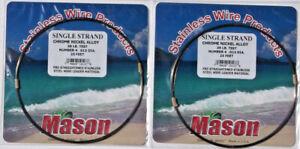 2 MASON SSBRO-4 SINGLE STRAND S.S. 38 LB TEST LEADER WIRE