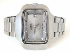 Omega widescreen tv  shaped dial, automatic watch design years ' 72stainlessteel