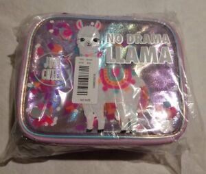 NWT Justice Girls No Drama Llama Shaky Lunch Tote Bag