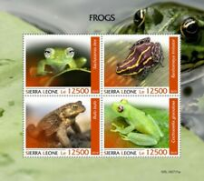 Sierra Leone - 2019 Frogs on Stamps - 4 Stamp Sheet - SRL190711a