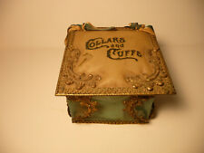 Vintage Victorian Collars and Cuffs Box /Container - W/ Stiff Arrow Mens Collar