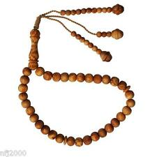 Lot of 12 Naturally Scented 33-Bead Pine Scent Pitch Wood PrayerBeads 8mm Tasbih