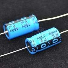 4pcs 450V 8uf Axial Leaded Electrolytic Capacitor For Audio Guitar Tube Amp New