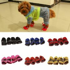 Dog Winter Paw Boots Soft Waterproof Socks Breathable Rain Sandals Snow Shoes