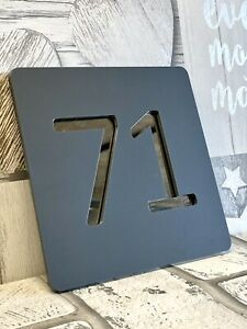 modern house number signs,