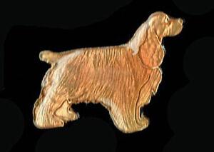 Vtg Enamel Pin 70's 80's Rock & Roll Novelty Cockerspaniel Dog Puppy lape collar
