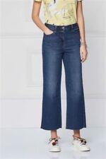 NEXT Crop Ankle Wide Leg Mid Rise Blue Jeans Sz 12r Stretch Cropped
