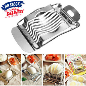 1PC Section Cutter Metal Hard Egg Slicer Stainless Steel Boiled Chopper Tomato