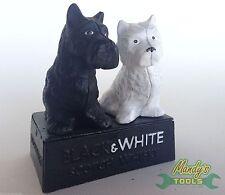 Cast Iron Black & White Buchanan's Scotch Whiskey Scottie Dogs Ornament XB&W