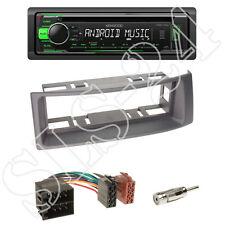 Kenwood KDC-110UG Radio + Renault Megane / Scenic Blende grau + ISO-Adapter
