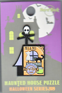 Hard Rock Cafe Pin: Miami Haunted House Puzzle 2019 Halloween Series le300