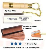 PERADON CUE TIP TOOL KIT PLUS. EVERYTHING REQUIRED FOR TIPPING YOUR CUE.UK STOCK