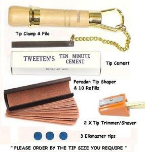 CUE TIP TOOL KIT PLUS. EVERYTHING REQUIRED FOR TIPPING YOUR CUE. UK SUPPLIER