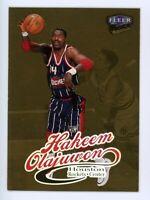 1998-99 Fleer Ultra HAKEEM OLAJUWON Rare GOLD MEDALLION EDITION #68G Rockets HOF