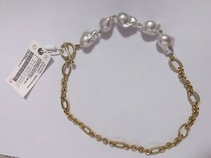 Other Stories pearl and chain necklace RRP £27