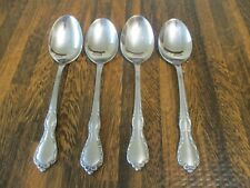 """New listing Oneida Distinction Deluxe Mansion Hall Stainless 6 7/8"""" Soup Spoons Set Of 4"""