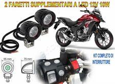 FARETTI SUPPLEMENTARI FARI MOTO LED KIT COMPLETO 12V 10W 6000K PER HONDA CB500X