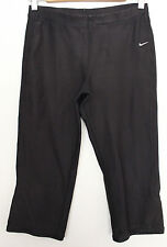 NIKE ~ Drifit Black Knee Length Matte Stretch Yoga Active Pants Leggings S