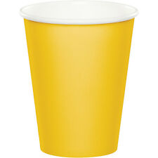 24 School Bus Yellow Wedding Birthday Party Tableware 9oz Paper Beverage Cups