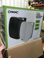 """CitroniC FC5  FC-5 compact background speakers 2-way 5.25"""" Black"""