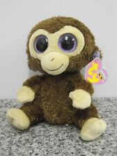 """TY COCONUT MONKEY BEANIE BABIES BOO 6""""approx SOFT TOY TAGGED DOB 27 JULY"""