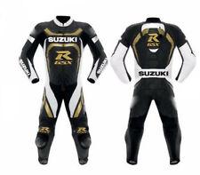 Motorcycle Leather Suzuki Racing Suit Cowhide Motorbike One Piece Suit