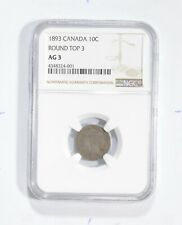 AG3 1893 Canada 10 Cents - Round Top 3 - Graded NGC *1792