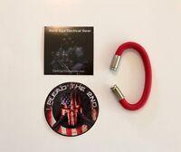 Bullet Casing Paracord Bracelet...Trump...2nd Amendment...Nickel 9mm...Red