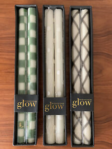 Lot of 3 packs mackenzie childs dinner candles 2 in each pack beeswax