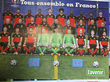 POSTER FOOTBALL : 2 PAGES : DIABLES ROUGES - TOUS ENSEMBLE EN FRANCE !