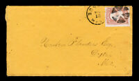 3¢ WASHINGTON ON COVER FANCY CANCEL CIRCLE OF WEDGES BOSTON MA 1866 WITH LETTER
