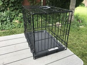 Four Paws K-9 Keeper Double Door Dog Crate Deluxe Series Black Wire Case Cage