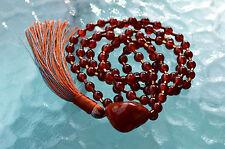 Red Carnelian 6mm 108 Handmade Mala Beads Necklace - Energized
