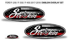 Ford F250-F350 2017 Clone Trooper Overlay Logo Sticker-Decals FRONT /& REAR B//W