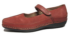 ROCKPORT DMX 7.5 W Comfy SHOES Mary Jane Wide Adjust Velcr0 Strap Leather Suede