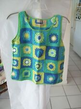 Woman's Hand Knitted Vest by Sigrid Olsen Sport Size PS