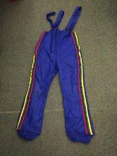 vintage Snowmobile Sears retro punk 1970s Ski Pants Bibs rainbow stripes size M